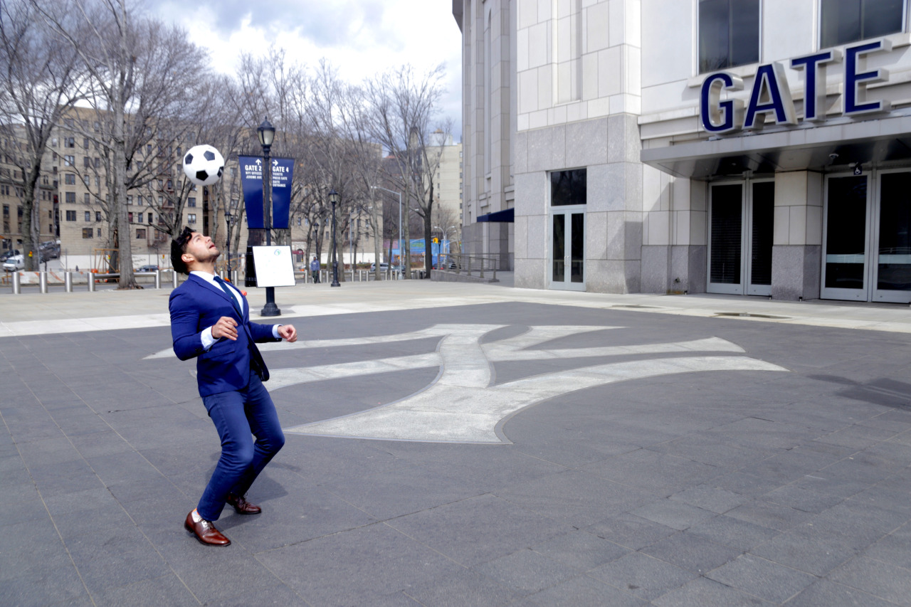 Dandy In The Bronx at Yankee Stadium for NYCFC - menswear suit inspired by nycfc