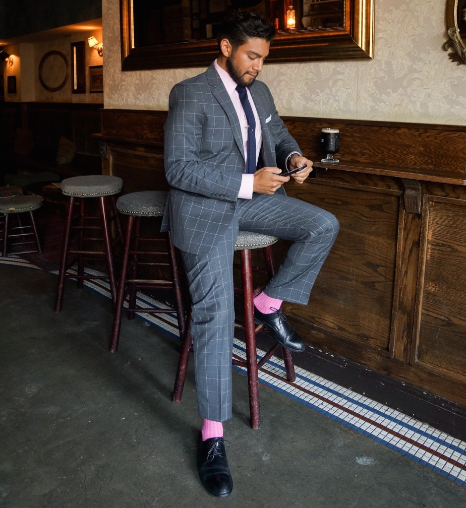 the late late bar new york with a suit