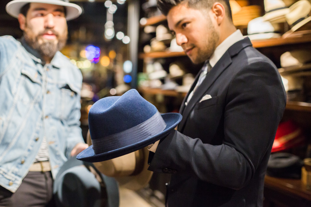 New York Nolita Goorin Bros Store Trying hats