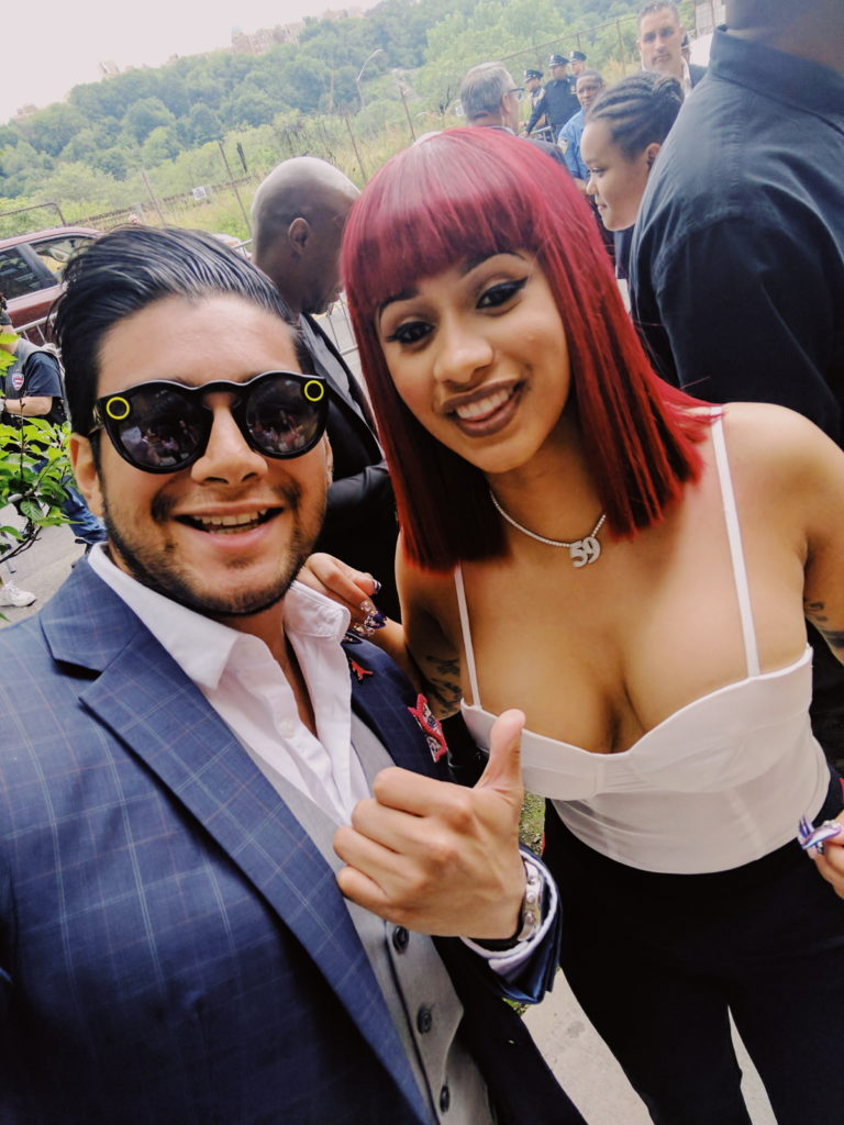 dandy in the bronx with Cardi B AT GLOBAL HIP HOP DAY
