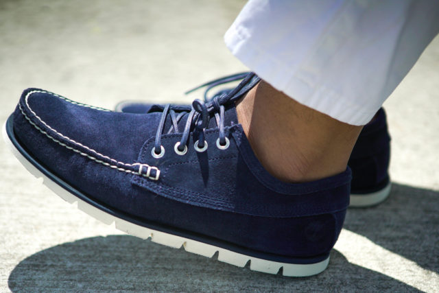 Timberland NAVY SUEDE MEN'S TIDELANDS RANGER MOC SHOES