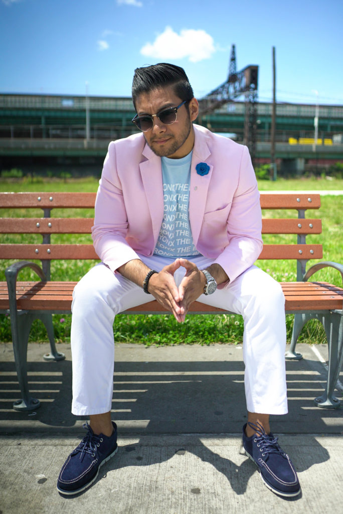 DANDY IN THE BRONX WEARING THE BRONX NATIVE SHIRT WITH SUIT