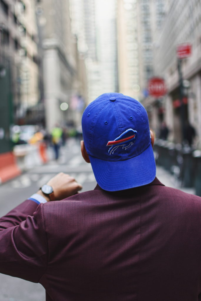 buffalo bills inspired outfit - fancy football outfit - dandy in the bronx