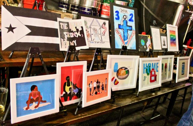 ARTSMITH'S ART PARTY - at gunhill brewery - dandy in the bronx