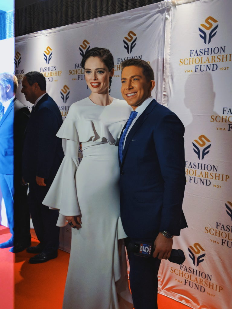 Coco Rocha and Baruch Shemtov at the 2018-annual-fashion-scholarship-fund-fsf-national-merit-scholarship-awards dandy in the bronx