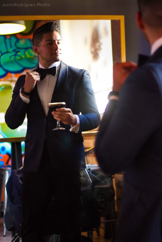 Navy Blue Tuxedo - the-bronx-public-restaurant - dandy in the bronx - photo by Justin Rodriguez