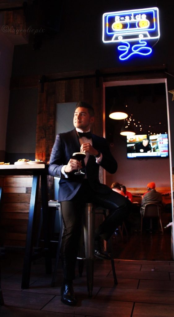 Navy Blue Tuxedo - the-bronx-public-restaurant - dandy in the bronx - photo by shanese powell