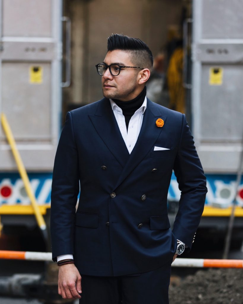 how to wear a turtleneck under a shirt dandy in the bronx